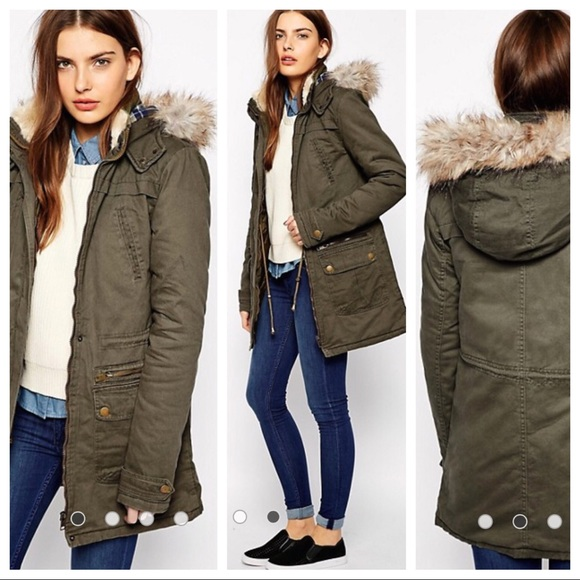 b59c58600 ASOS New Look - Army Green Parka - Size 6 Tall US